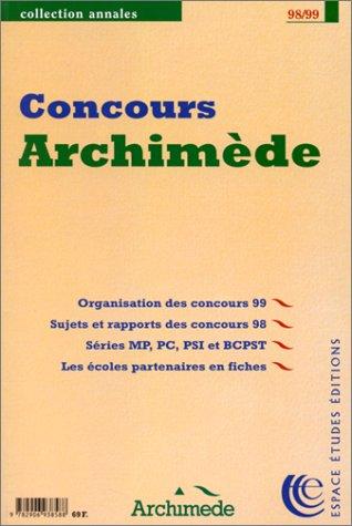 Annales des concours Archimède 98