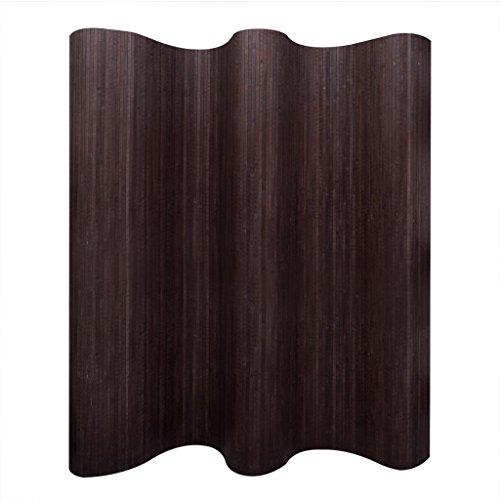 vidaXL Biombo de Bambú Plegable Marrón Oscuro Privacidad Decoración 250x195 cm