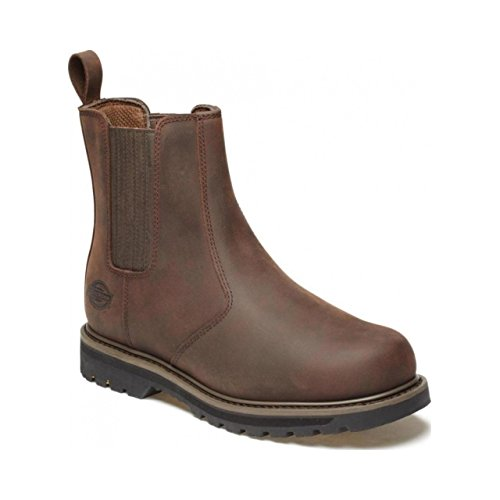 Trinità Chelsea Pelle Marrone Dickies Boots In Uomo gBqnFT