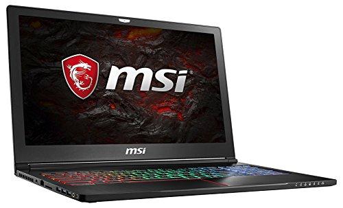 MSI GS63 7RD-223 Stealth (39,6 cm/15,6 Zoll) Gaming-Laptop (Intel Core i7-7700HQ Kabylake, 16GB RAM, 256GB SSD, Nvidia GeForce GTX1050, Windows 10 Professional) schwarz GS63 Pro