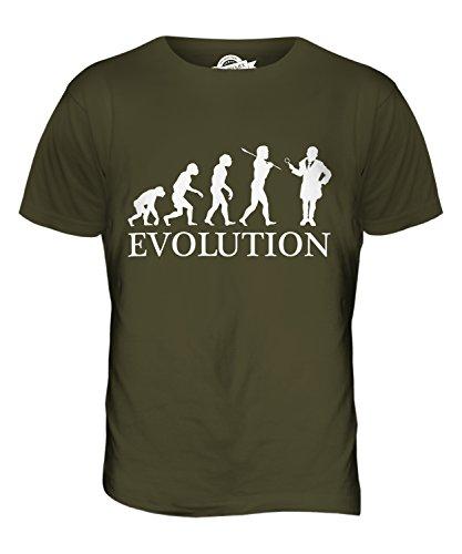 CandyMix Investigatore Evoluzione Umana T-Shirt da Uomo Maglietta Verde oliva