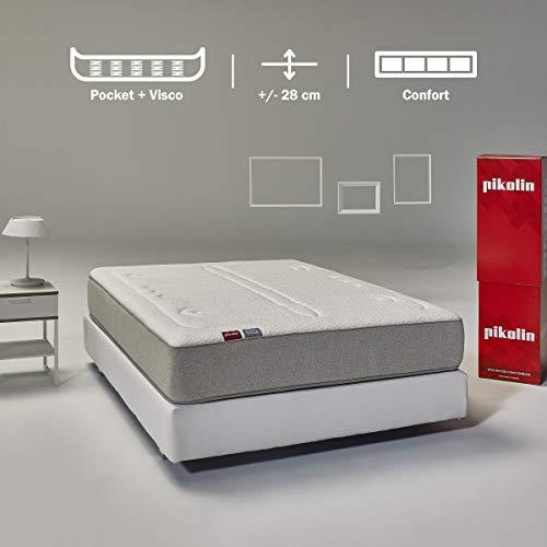 Pikolin Veza, colchón de muelles ensacados y viscoelástica premium, 135x190, firmeza media-alta, colchones...