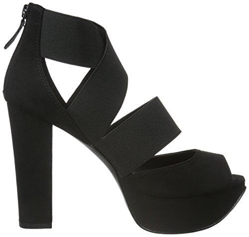 BIANCO - Elastic Strap Sandal Jja16, Scarpe col tacco Donna Nero (Schwarz (10/Black))