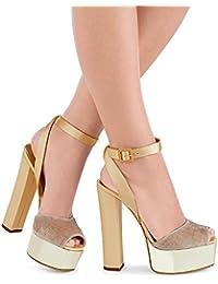 Elegant high shoes Tacchi da Donna Primavera Peep Toes PU New Similpelle Matrimonio/Feste/Sandali/Ruvido con