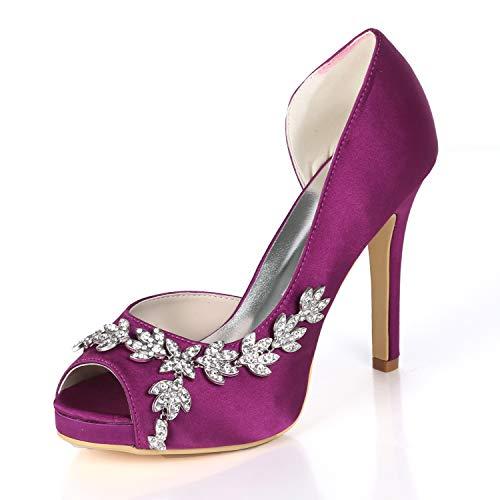 AIMISHOES Zapatos tacón Alto Plataforma Mujer Zapatos