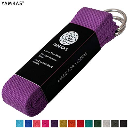 Yamkas Cinturon Yoga Correa | 1 8M - 3M | Correas Yoga Estiramiento | Yoga  Strap Belt 100% Algodon | Morado