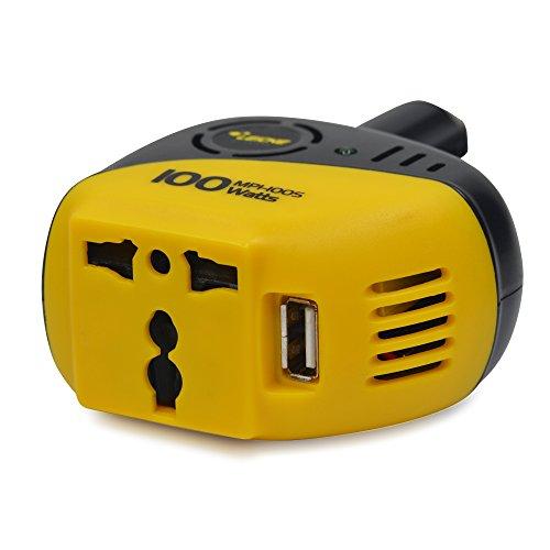 Leicke AA30041 - Adaptador / Transformador de corriente para el coche (12V a 220V hasta 100W con puerto-USB)