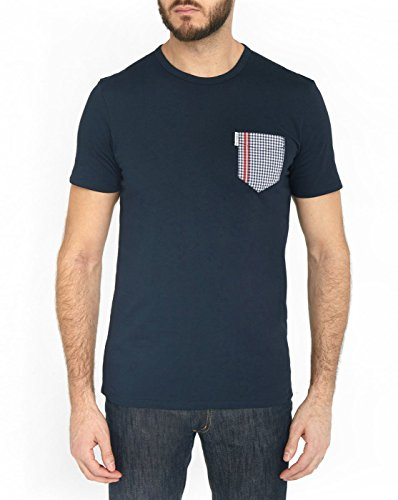 Ben Sherman - Gingham Pocket, T-Shirt Uomo blu navy