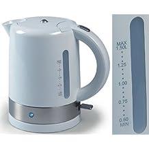 Wasserkocher, Wasserkessel für 1,5Liter, Kabellos, optimal für Links-und Rechtshänder, weiss