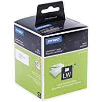 Dymo LabelWriter etichette per indirizzi grandi autoadesive, 36 x 89 mm, (2 rotoli da 260), stampa nera su bianco, S0722400