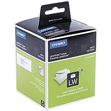 Dymo S0722400 Adressschilder (selbstklebende große, für LabelWriter, 3,5 cm x 8,9 cm, 260er-Rolle) 2er-Packung, schwarz und weiß