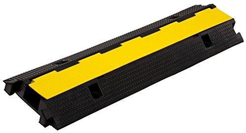 Pronomic Protector 1-100 Kabelbrücke 1-Kanal mit Steckverbindung 100 x 26 x 7 cm +/- 1% schwarz/Signalgelb (Kanalmaß B x H: 75 x 45 mm, Material: Kautschuk/Kunststoff, Gewicht: 9,2 kg) - Kunststoff-kanal