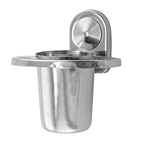 Klaxon Armano Stainless Steel Toothbrush Holder (Silver, Chrome Finish)