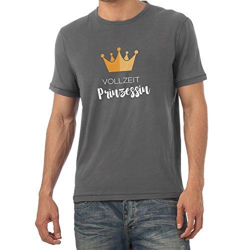 NERDO Vollzeit Prinzessin - Herren T-Shirt, Größe L, Grau