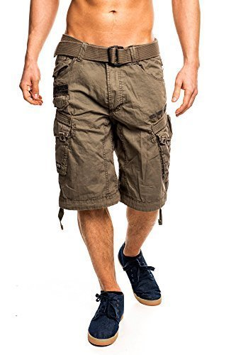 4M3 Geographical Norway People Herren Bermuda Shorts Kurze Hose Storm XL