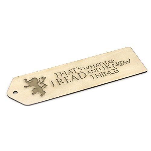 Game of Thrones inspiriert Holz Lesezeichen–Gravur Geschenk