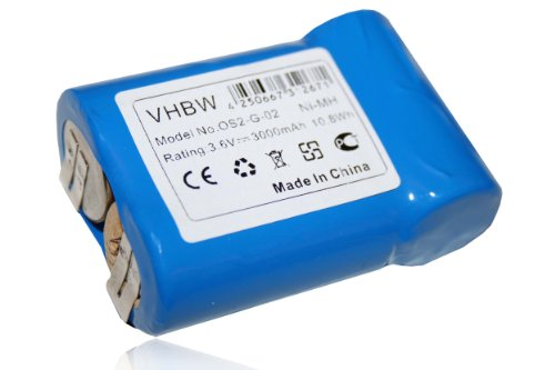 vhbw Ni-MH Akku 3000mAh (3.6V) für Staubsauger, Cleaner AEG Junior 3000 wie 520104.