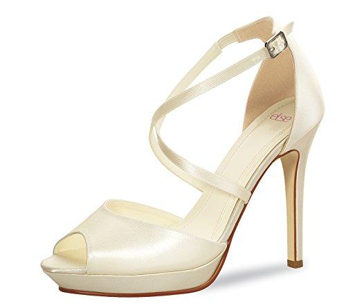 38 Ivory Hochzeit Satin Kleidung & Accessoires Brautschuhe Clever Brautschuhe Rainbow Club Elsa Coloured Shoes Ramona Gr