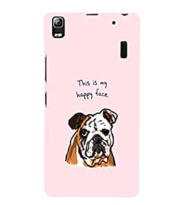EPICCASE Happy Bulldog Mobile Back Case Cover For Lenovo K3 Note (Designer Case)