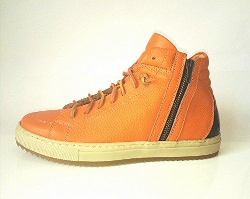 YLATI, Sneaker uomo arancione Congac cocco 44, arancione (Congac cocco), 44 EU