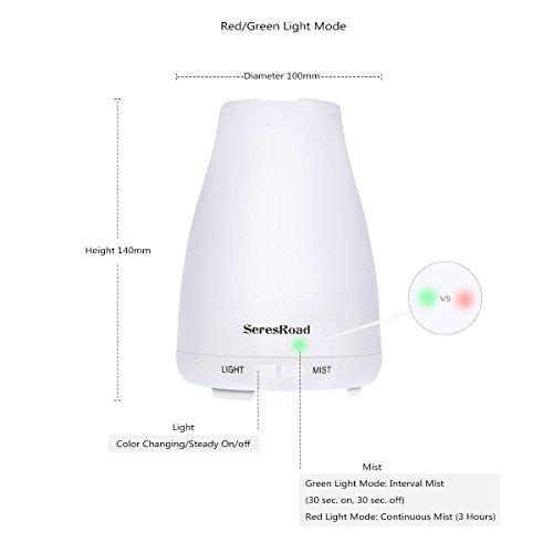 Aroma Diffuser Luftbefeuchter mit LED Farbwechsel ohne Lärm - 4