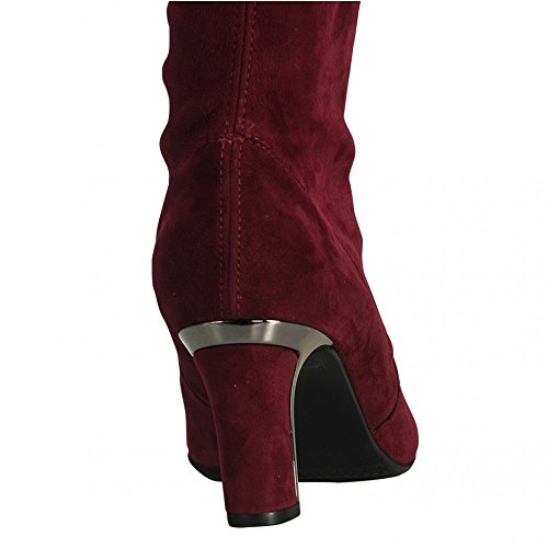 Peter Kaiser Pull On Suede Long Boot Barolo Suede