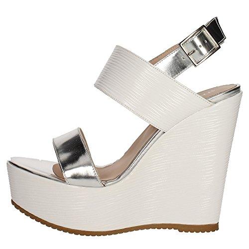 Micheggio 0474 Sandalo Donna Pelle Bianco/argento Bianco/argento 40
