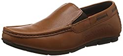 Lee Cooper Mens Tan Leather Loafers and Mocassins - 6 UK/India (40 EU)