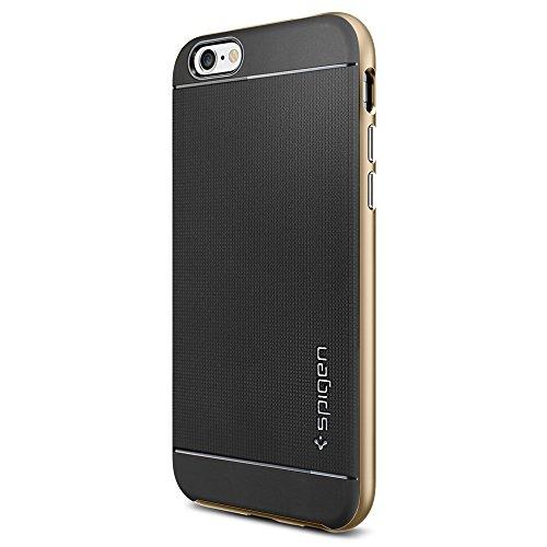 Spigen [METALLIZED BUTTONS] iPhone 6 (4.7) Protective [Neo Hybrid Series] [Champagne Gold] Bumper Case Slim Fit Dual Protection Cover for iPhone 6 (4.7) (2014) - Champagne Gold (SGP11035)