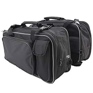 Ryde Lot de 2 sacs pour moto Noir