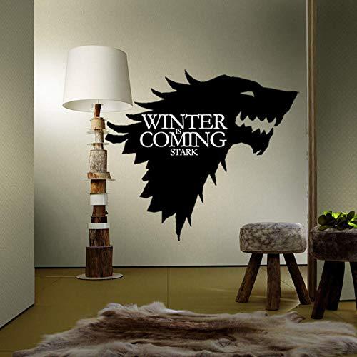 ShopSquare64 Juego de Tronos T-5 Stark Family Emblem Ice Lobo Vinilos Decorativos Pegatinas de Pared Grabados