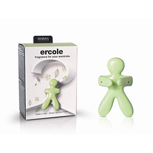 Mr & Mrs Fragrance Hercules - EVA rubber air freshener for cupboard (7 x 1 x 9 cm) with fruit aroma, green color