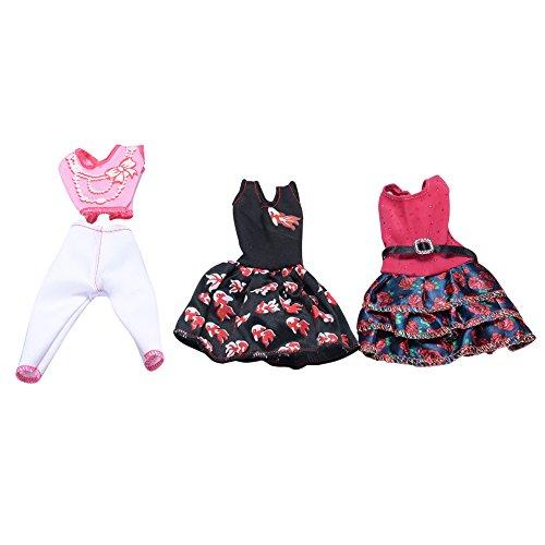 68f01fd805 elegantstunning 3pcs 5PCS Fatta a Mano Stile Casual Bobbi Doll Clothes Set  Elegante Abito per