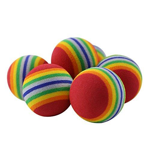 t-meka 1pcs Katze Regenbogen-Spielzeug-Kugel für Spielen