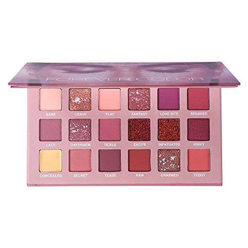 Huaqiang 18-Farben Lidschatten-Palette Matte Glitter Lidschatten-Palette Desert Rose Lidschatten-Set Desert Rose Set