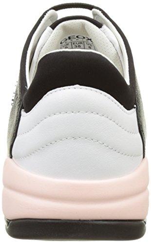 Geox Damen D Sfinge A Sneakers Schwarz (BLACK/WHITEC0504)