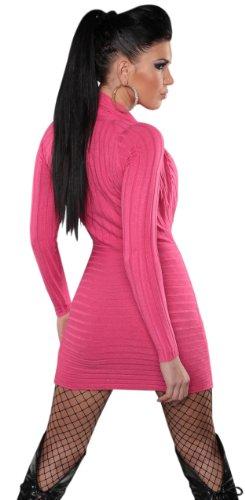 Koucla - Robe - Crayon - Uni - Manches longues - Femme Rose - Rose