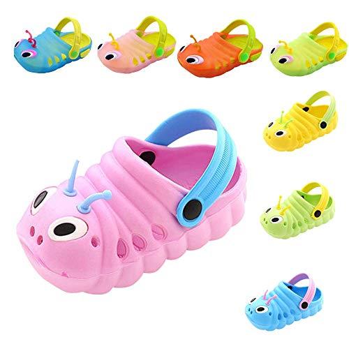 Dorical Calzature per Bambini Antiscivolo a Forma di Bruco per Bambini con Pantofole Baotou Pantofole dei Sandali della Spiaggia del Fumetto delle Ragazze delle Neonate