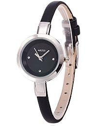 ufengke® elegantes exquisite dünnen band strass zahlen kleiden handgelenk armbanduhren für damen mädchen,schwarz