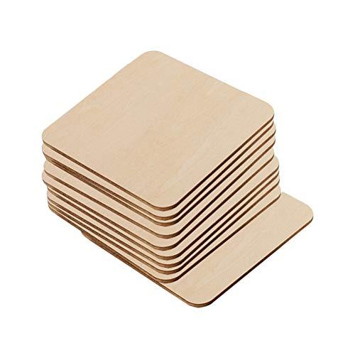 TOYANDONA Holzscheiben zum Basteln Bemalen Baumscheiben Naturholzscheiben Holz Streudeko Mittelstücke für Rustikale Hochzeit Tischdeko DIY Handwerk 10 Stücke (Rustikale Mittelstücke Für Hochzeiten)