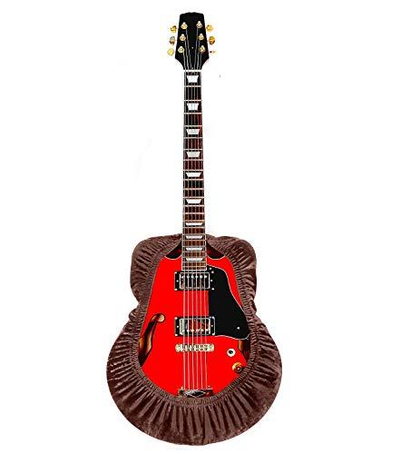 QEES Gitarrenabdeckung, staubdicht, dehnbar, für Akustikgitarre, schmutzabweisend, für klassische und elektronische Gitarre, Schutzhülle/Tastaturhülle JJZ525, Braun