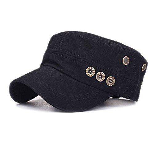 King Star Cadet FLAT TOP Cappelli Army Castro Snapback Caps Black Medium