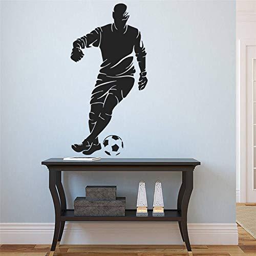 jiushizq Wandtattoo Europäischen Fußball Sport Team Spiel Kinderzimmer Wohnkultur Abnehmbare Wohnzimmer Wandtattoo Rot 87 x 174 cm