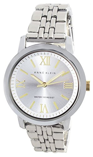 Anne Klein AK/1287SVTT Silver Dial Metal Bracelet Women's Quartz Watch