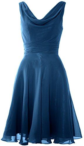 MACloth - Robe - Trapèze - Sans Manche - Femme Bleu-vert