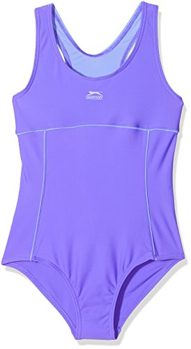 7-8 Jahre Slazenger Mädchen Badeanzug in der Farbe : dunkel lila