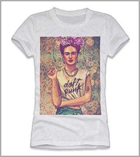 T-shirt donna-Frida Kahlo Daft Punk