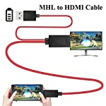 Leoie MHL to HDMI Adapter Micro USB to HDMI 1080P HD TV Cable Adapter for Samsung S3 S4 S5 Black