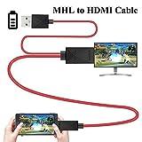 Cavo da micro USB a HDMI-MHL 1,8m per smartphone e tablet trasmissione da TV 11 Pin MHL Port rosso per Samsung Galaxy S3, S4, S5, Tab S2 9.7 LTE
