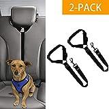 Hunde Sicherheitsgurt Auto 2 Packungen Auto KopfstüTze ZurüCkhaltung Einstellbar Nylon Stoff Haustier Fesseln Fahrzeug Sicherheitsgurt Geschirr,Black,2pack
